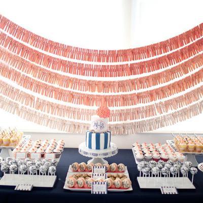 ombre dessert table backdrop diy wedding