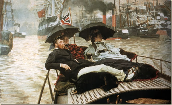 James Tissot, La Tamise 1876