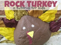 Rock Turkey Tutorial for Kids