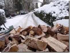Truck full of wood