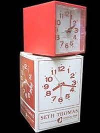 Seth Thomas Minicube alarm clock with box
