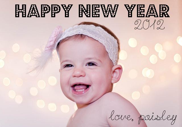 HAPPY NEW YEAR PAISLEY 2012