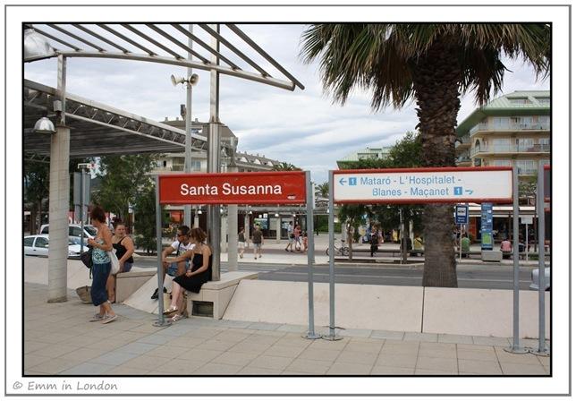 Santa Susanna train station