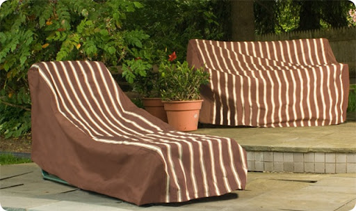 Metro Brown Chaise Lounge Cover