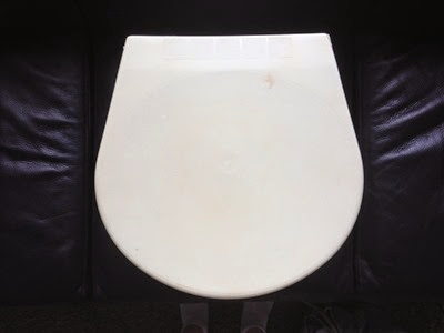 white Kartell waste bin top