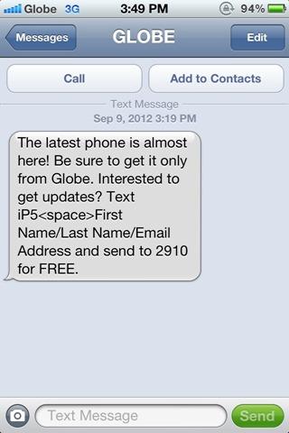 Globe iPhone 5