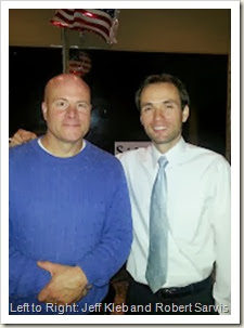 Photo: Jeff Kleb (blue sweater) and Robert Sarvis (white shirt with tie).