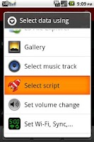 Screenshot of SL4A Script Launcher