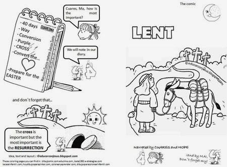 Comic sobre la cuaresma para niños, español e inglés