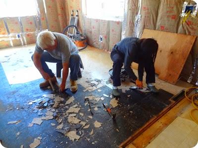 tearing up tile