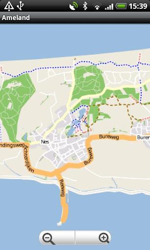 Ameland Street Map