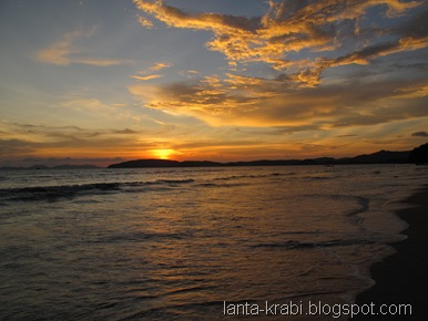 Ao Nang Deserted Beach Sunset
