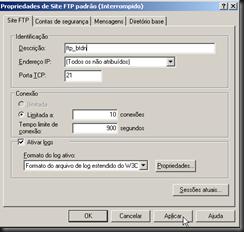 Windows XP : Ferramentas Administrativas : FTP : Propriedades