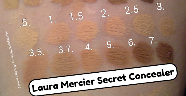 Laura Mercier Secret Concealer & Corrector Review & Swatches of Shades