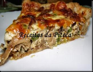 Quiche de carne grelhada e legumes (aproveitamentos)-fatia