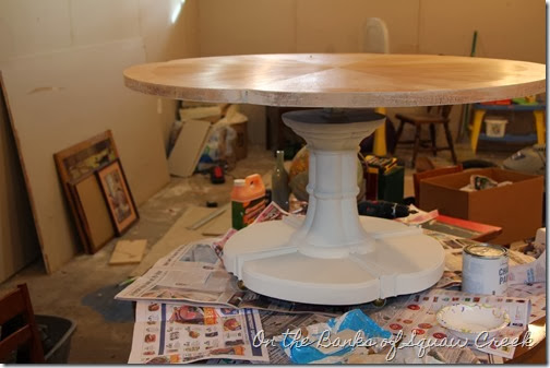 two-toned beachy table