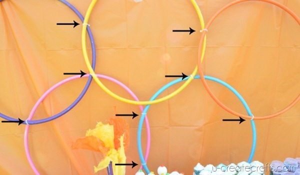 DIY Giant Olympic Rings Zip Tie