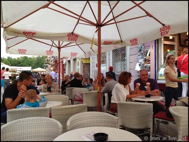 Ice Cream at a Sidewalk Cafe, Novi sad