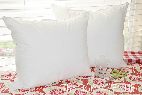 Craft Tip: Bed Pillow into TWO Throw Pillows | U Create