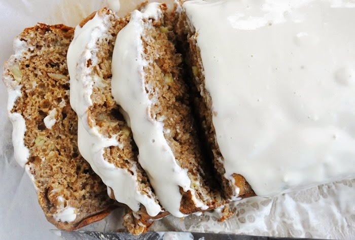 Spiced Rum Banana Nut Bread w.Cream Cheese Glaze (26)