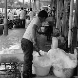 Shanghai - Marché poisson - Du sel à la pelle !