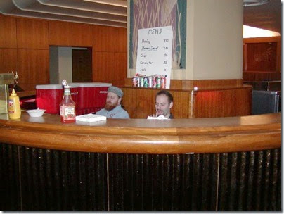 47 SOME Members Henry Bangsberg & Randy Rumpf at the Food Service Bar at TrainTime 2003