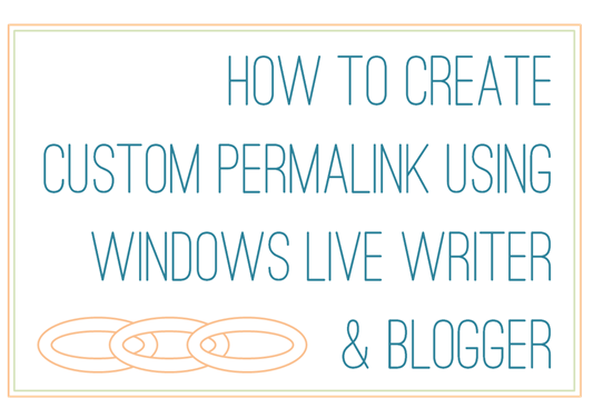 how to create custom permalink using windows live writer and blogger2