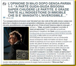 OPINIONE MAJO GENOA PARMA