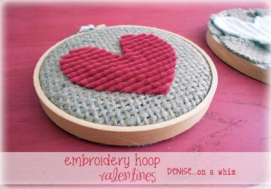 Embroidery Hoop Valentines