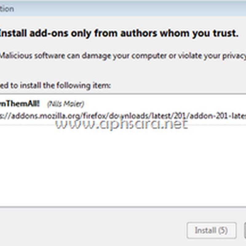 ดาวน์โหลด Video จาก Youtube ทุกคลิปในหน้าเวบด้วย Addon Firefox