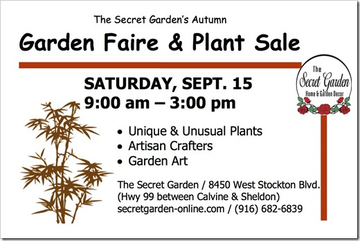 Garden Faire Flier Autumn 2