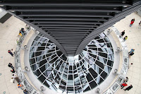 Looking down into the Reichstag