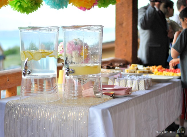 Colorful country glam wedding reception