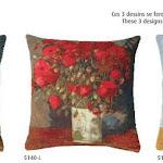 Poduszki gobelinowe w kwiaty - reprodukcje obrazów Van Gogh.