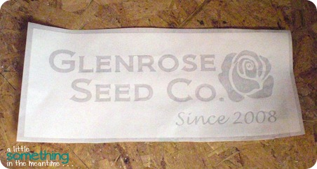 Glenrose Seed Co Stencil WM