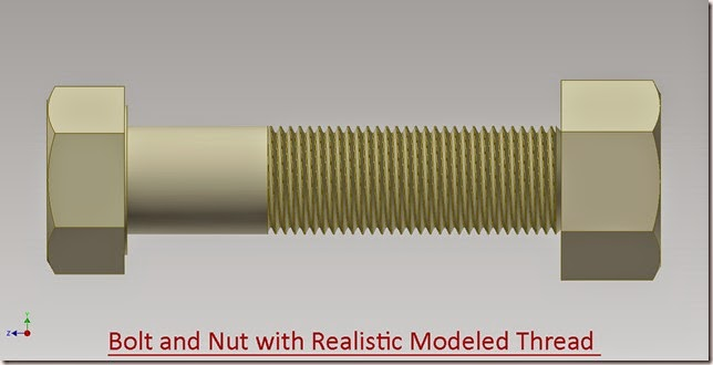 Bolt and Nut with Realistic Modeled Thread_2