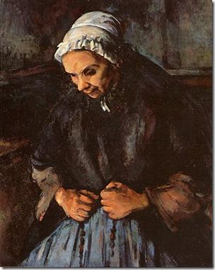 Pieds foulés (Paul Cézanne, Vieille Femme avec un rosaire (Londres, National Gallery))
