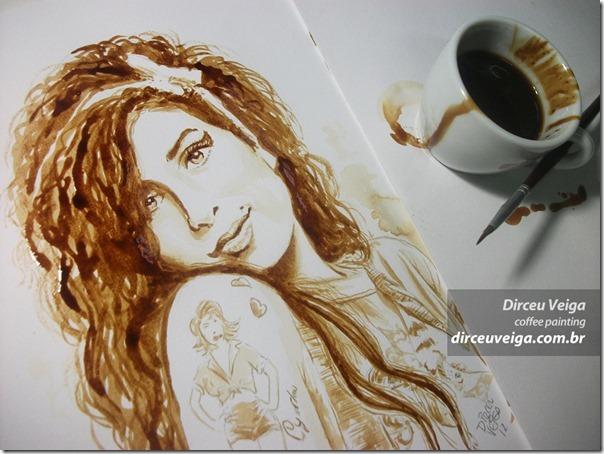 Arte com café de Dirceu Veiga (1)