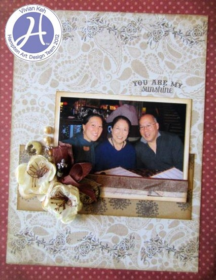 Vivian Keh Hampton Art Authentique You are my sunshine layout