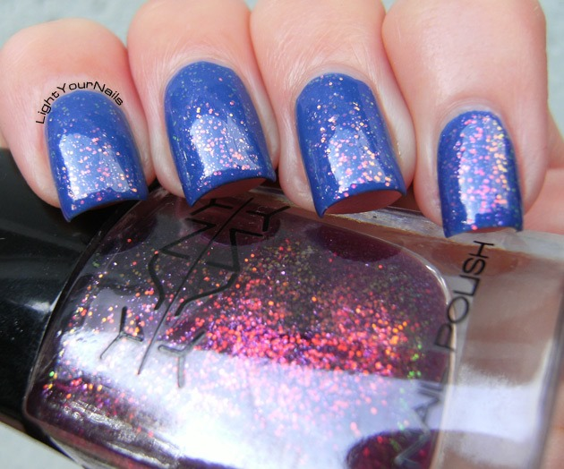 Ysny 052 (over L'Oreal Rebel Blue)