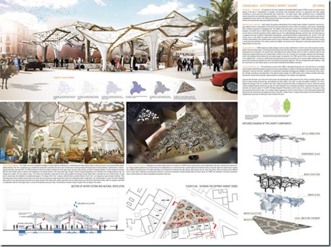 CASABLANCA_international architecture competition_AC-CA_Plaza de un Mercado Sustentable_Sustainable Market Square _Place d'un Marché Ecologique_Mencion de Honor_7