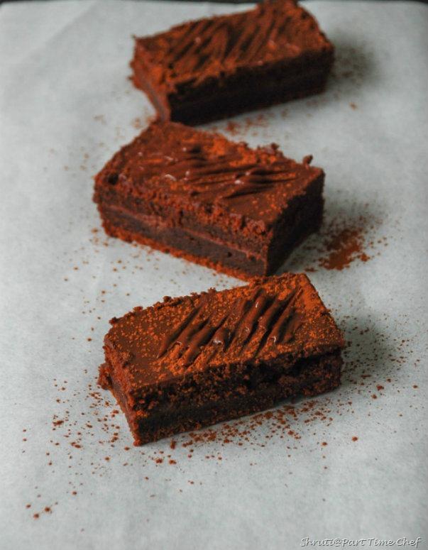 Vegan chocolate cake with vegan ganache frosting