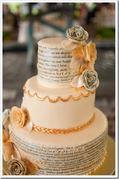 Wedding cake with their Vows