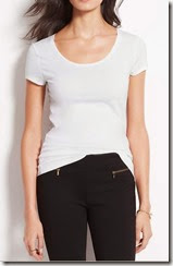 Ann Taylor Scoop Neck Tshirt