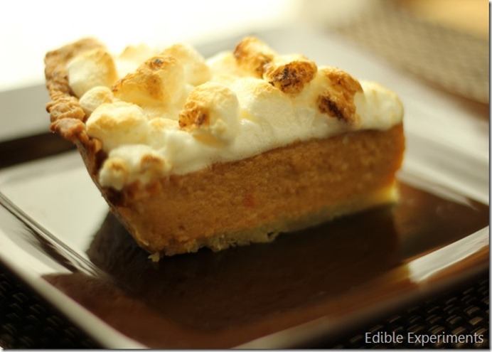 Sweet Potatoe Pie with Toasted Marshmallows