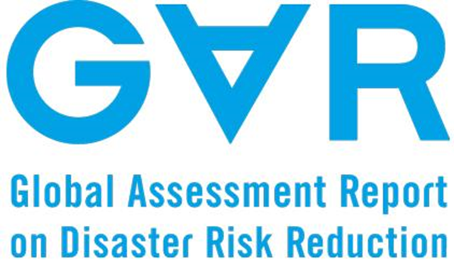 Logo for the United Nation's Global Assessment Report on Disaster Risk Reduction (GAR). Graphic: UNISDR