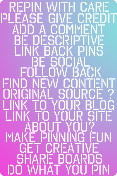 Pinterest Rules of Engagement