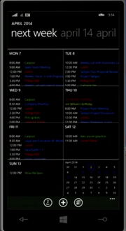 "Improved ""Calendar"" application in Windows Phone 8.1"