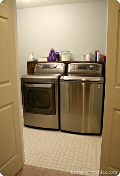 The Laundry Room Making It Work From Thrifty Decor Chick