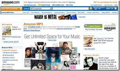 amazon mp3 tienda virtual de musica